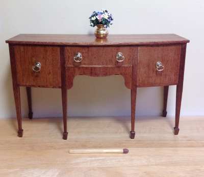 Bow front sideboard