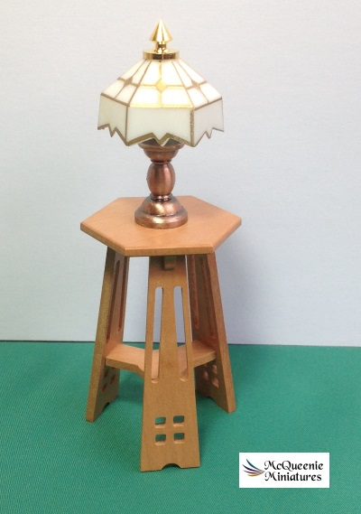 Lamp table, Arts and Crafts