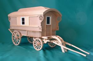 12th scale Gypsy caravan kit