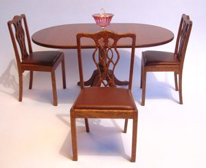 Dining chairs with fret work back
