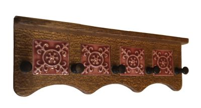 Coat rack, embossed tiles
