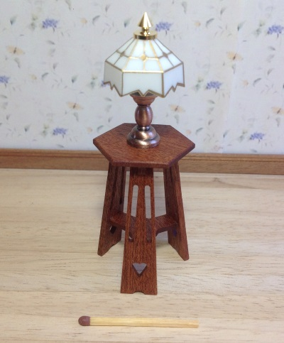 Lamp table, mahogany