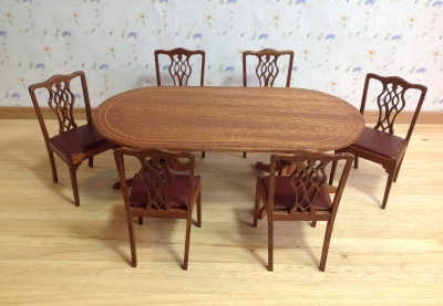 Fret work chairs and table