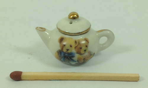 Two teddies teapot (T28)
